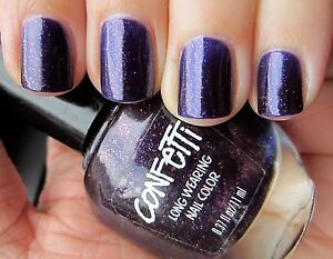 Image Is Loading Glittery Purple Nail Polish Confetti Long Wearing Hy