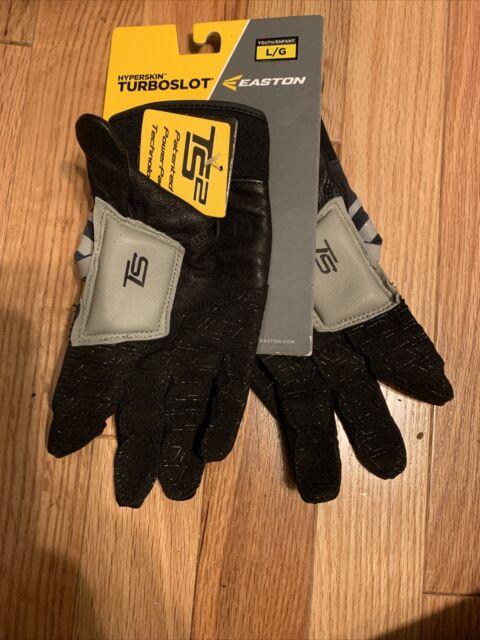 Easton Turboslot Hyperskin TS2  gloves  Youth Large Black & Gray