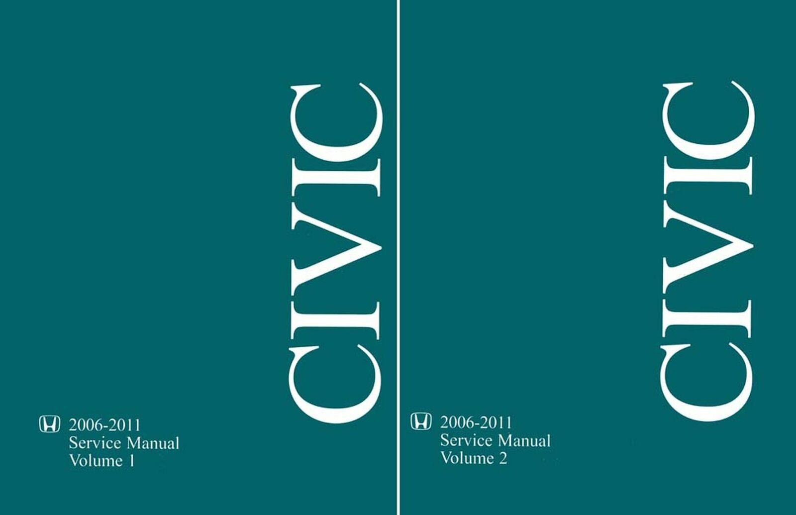 Bishko OEM Repair Maintenance Shop Manual Bound for Honda Civic 2006 - 2011