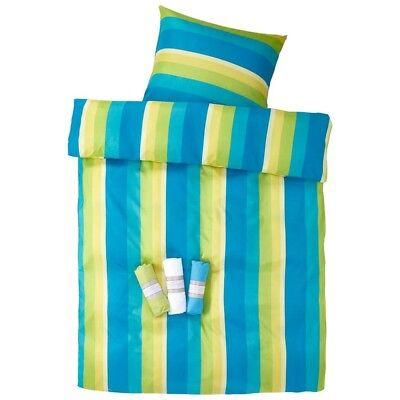 BettwÄsche 977 In Blau/grÜn Mikrofaser Bettbezug Bett 135x200 Neuware Garnitur Möbel & Wohnen
