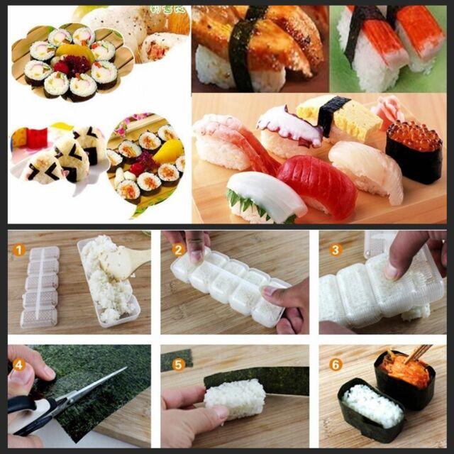 Japan Nigiri Sushi Mold Rice Ball 5 Rolls Maker Non Stick Press Bento New Tool