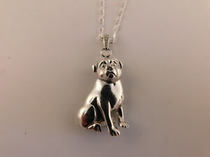 Sterling pitbull rottweiler pendant necklace dog pit bull chain image is loading sterling pitbull rottweiler pendant necklace dog pit bull aloadofball Choice Image