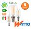 5-LAMPADINE-LED-FILAMENTO-NIFLUX-E14-2W-4W-6W-GLOBO-OLIVA-FIAMMA miniatura 1