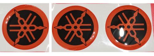 3 Adesivi Diapason NERO /& ORANG 3D resinato 10 mm Tmax Xmax R1 R6 MT