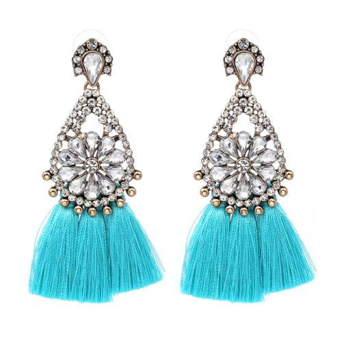 1 Paire élégant femme cristal Strass Tassel Oreille Clous d/'oreilles Fashion Jewelry