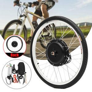 48V-1000W-26-034-Rueda-Delantera-Trasera-Bicicleta-Electrica-E-Bike-Conversion-Kit
