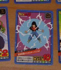 DRAGON BALL Z DBZ SUPER BATTLE POWER PART CARD CARTE 167 MADE IN JAPAN 1992 NM