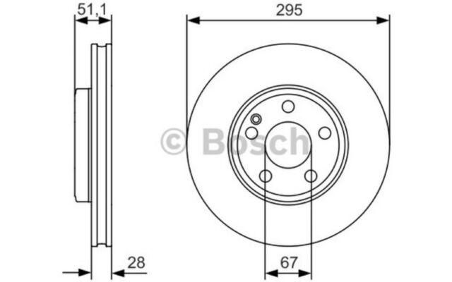 1x BOSCH Disco de freno delantero 305mm 0 986 479 A01