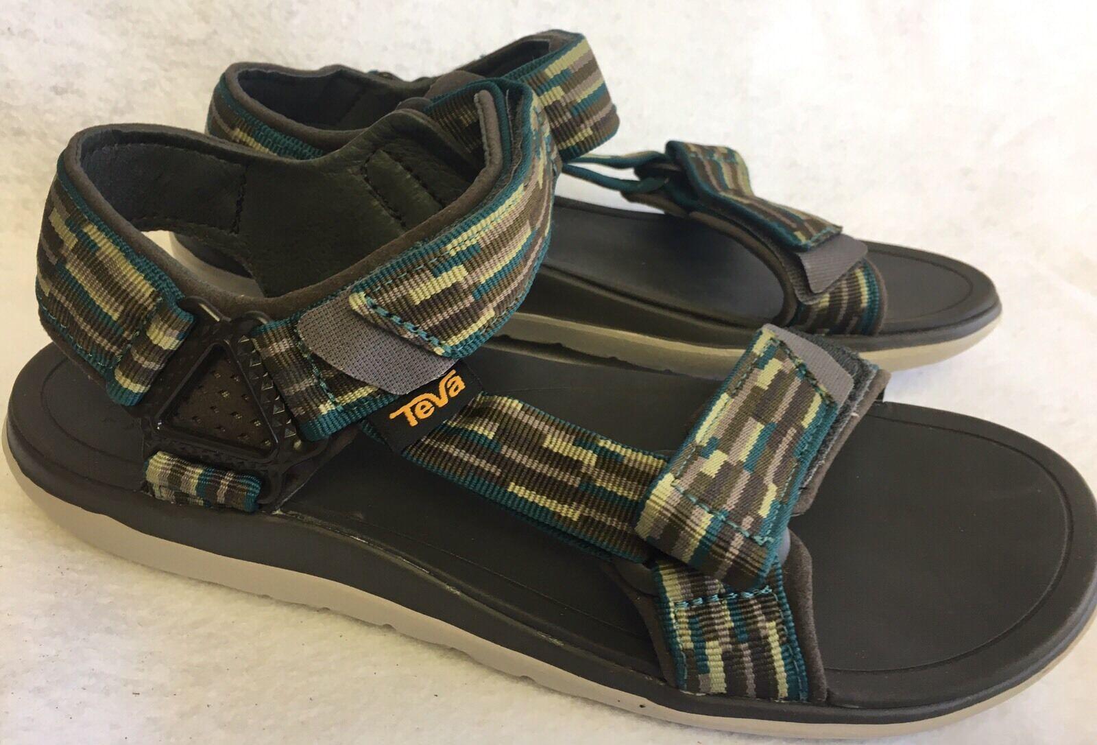 Teva Terra-Float Univ 2.0 Tacion Olive Green Mens Sport Sandals Size 9 M Men's