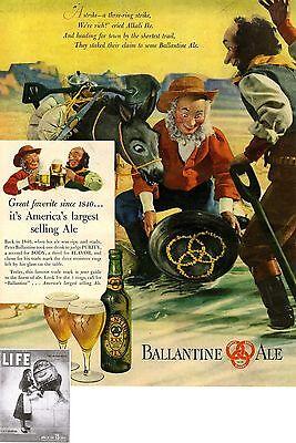 Us-advertising 1947 * Ballantine Ale Sonnig P Ballantine & Sons Newark N.j