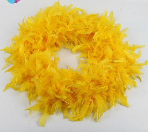 Chandelle Feather Boa Fluffy Trim 50g 6 feet Long 72 Inches Party Scarf 2 Yards