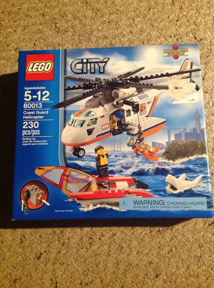 Nuovo In Box Lego City 60013 Coast Guard Helicopter.  Box Shows Slight Wear.