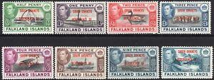 Falkland Islands Dependencies South Orkneys 1944 set of 8 mint SGC1---C8 (8)