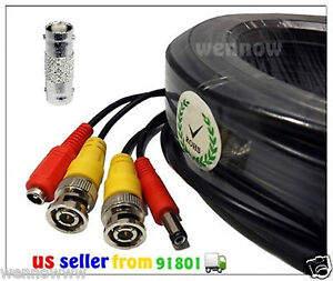 Black 200 ft Power & Video Cable for Security CCTV use / Zmodo / Swann / Qsee