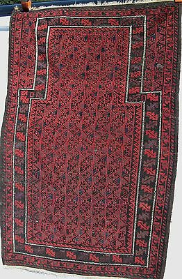 Antique Balouch Prayer Rug Estate Carpet Fine Tekke
