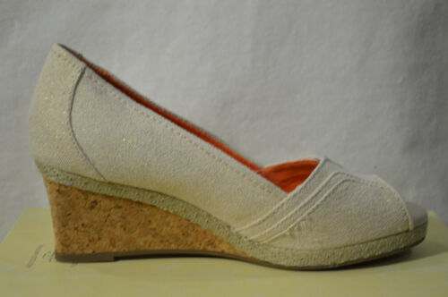 SONOMA life Size 6.5//7 NWOB style Jenne Gold Peep Toe Platform Wedge Sandals