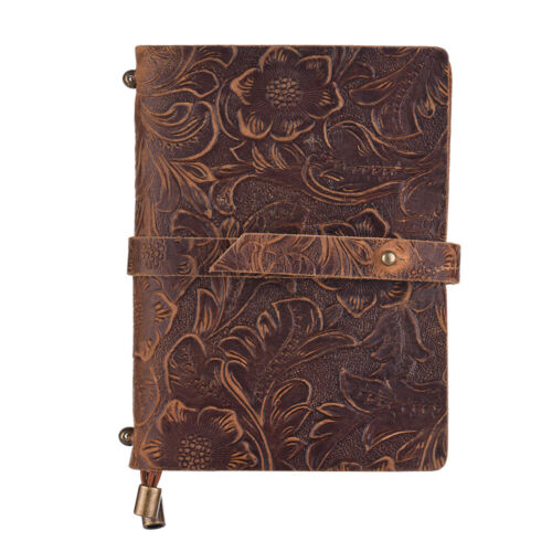 Leder Vintage geprägte Muster Travel Journal Notebook Ausgekleidet Leeres Gift