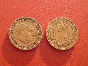 2,5 Pesetas Franco 1953-56 EspaÑa Mbc Wy1vbvv0-08004523-910000705