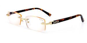 Designer-Mens-Rimless-Reading-Glasses-Tinted-Readers-1-0-1-5-2-0-2-5-2-0-3-5