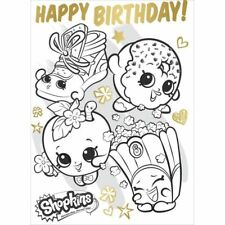 Child COLOUR IN POSTER Birthday Cards Colouring In Happy Girls Boys Kid