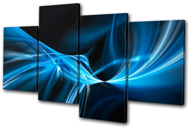 Abstract Design MULTI CANVAS WALL ART Picture Print VA