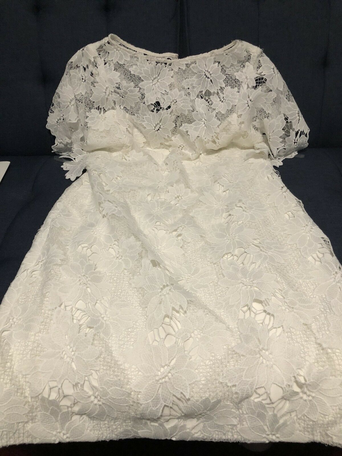 NWT Weiß Crochet Lace Lauren Ralph Lauren Dress Größe 10 Größe10 New