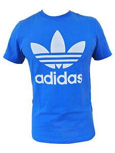 Adidas-Originals-pajaro-de-fuego-T-Jersey-Camisa-Azul-Blanco-Negro-Mercancia-B
