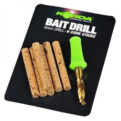 Korda 6mm Bait Drill 6 corksticks Carp fishing tackle