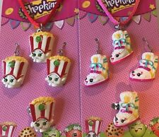 2 Sets Of Shopkins Necklace, Earrings& Ring SneakyWedge, PoppyCorn
