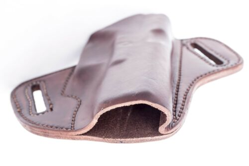 357Full Grain Leather OWB Pancake Holster 40 22 45 S/&W M/&P 9 MADE IN USA