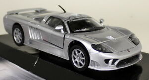 Motormax-1-24-Scale-2005-Saleen-S7-Silver-Diecast-model-car