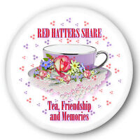 6 Red Hatters Share Tea Friendship Memories 3 Buttons/magnets 4 Society Ladies