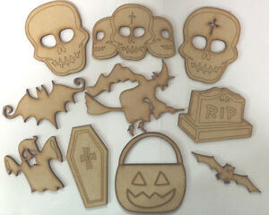 WOODEN-HALLOWEEN-SHAPES-X-10