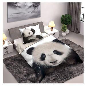 Panda-parure-de-lit-housse-de-couette-160x200-Taie-70x80-100-Coton-Panda-Ours