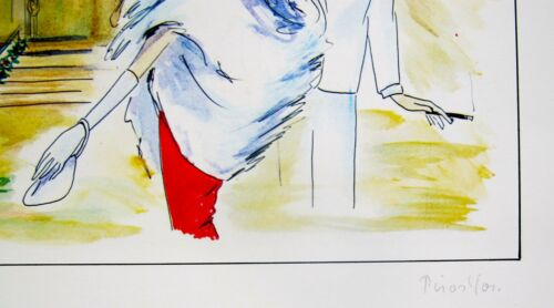 """PIROSKA KEVESI /""""MONTE CARLO/"""" Hand Signed Lithograph from the 1987 CASINO Series"""