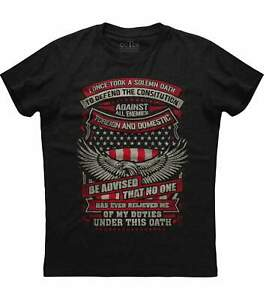 I-Once-Took-A-Solemn-Oath-To-Defend-The-Constitution-Men-039-s-New-Black-T-shirt