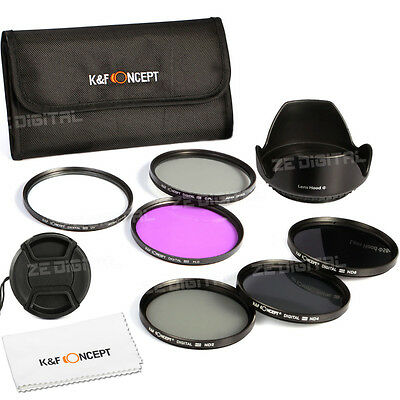 52mm UV CPL FLD ND2 ND4 ND8 Filter for NIKON D3000 D5100 D7000 D3200 + Lens Hood