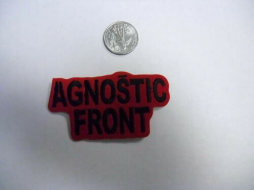 Agnostic Front FUZZY punk Logo IRON//SEW ON EMBROIDERED PATCH NEW