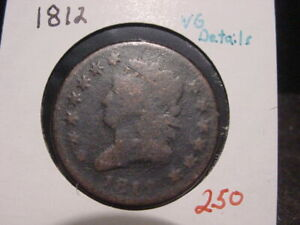 1812-CLASSIC-HEAD-LARGE-CENT-VG-DETAILS-BETTER-DATE-NICE-COMBINED-SHIPPING