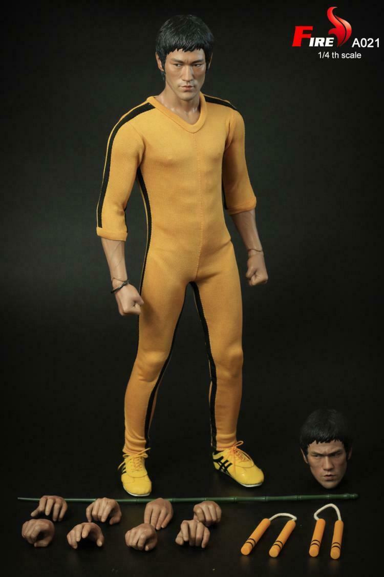 FIRE A021 1 4 Bruce Lee's Game of Death Dual-Head Collect Action Figure