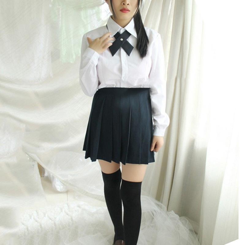Unisex Cross School Uniform Tie Korea Style Criss-Cross Bowtie Neck Tie C