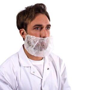 100 x masque jetable barbe Snood couvrir restauration sécurité alimentaire barbe masque blanc-afficher le titre d`origine Ib3X0PNR-07135907-357087297