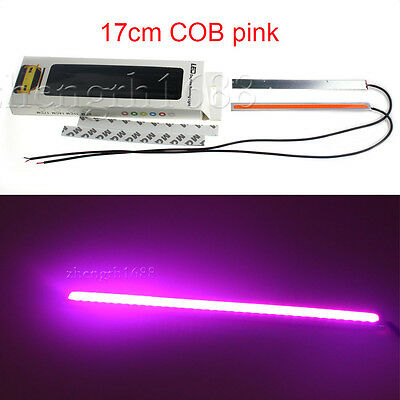 2x Super Bright pink Car COB LED Lights DRL Fog Driving Lamp Waterproof DC 12V