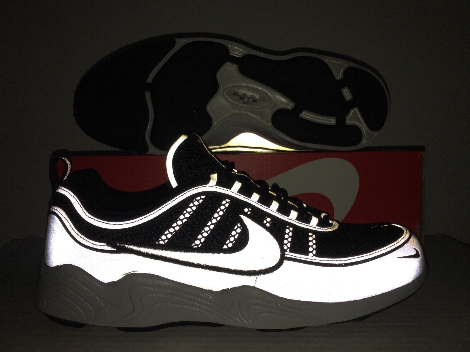 New shoes for men and women, limited time discount Nike Air Zoom Spiridon '16 Running Shoes Black Reflective Silver Price reduction