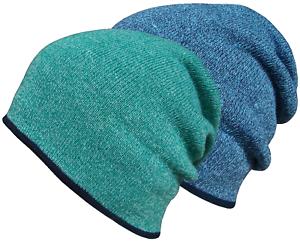 Hommes Femmes Bonnet D/'Hiver Laineux Tricot Slouch Beanie Ski Chapeau surdimensionné Cap