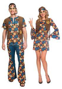 Femmes Hippie Costume Adultes 60 s 70 S Hippie Déguisement Femme 1960 S 1970 s tenue
