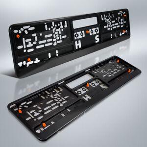 2-Kennzeichenhalter-KLIPP-TOP-4-Daempfung-Autokennzeichen-PKW-KFZ-DHL