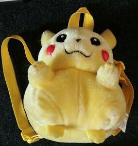 Pokemon-Pikachu-Backpack-Nintendo-Licensed-Vintage-Talk-and-Light-up-Cheeks-Rare