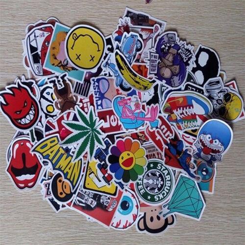 New 50pcs //lot Sticker Bomb Decal Vinyl Roll Car Skate Skateboard Laptop Luggage