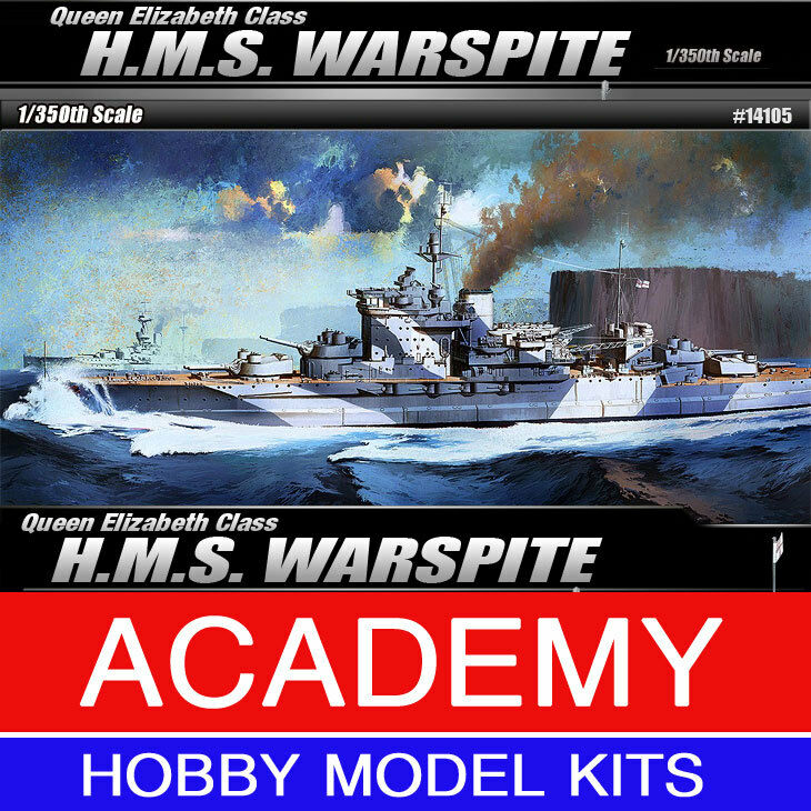 1 350 Queen Elizabeth Class H.M.S. WARSPITE Academy Model Kit B14105